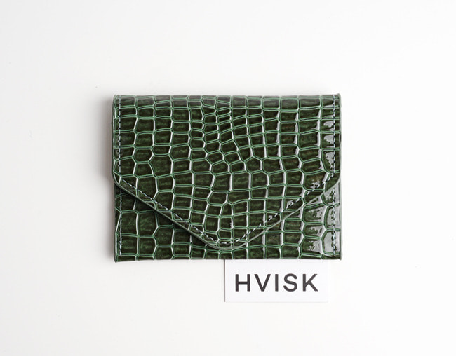 Hvisk Wallet croco Jungle Green 카드지갑