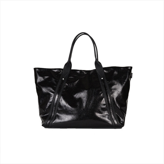 Tote bag zip L - vinyl mascara 40%SALE