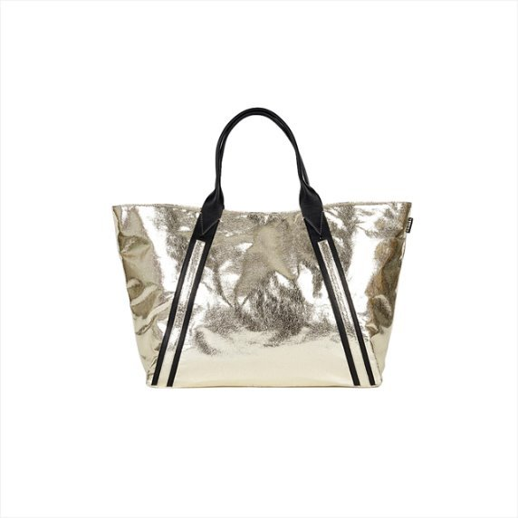 Tote bag zip L - golden glitter 40%SALE