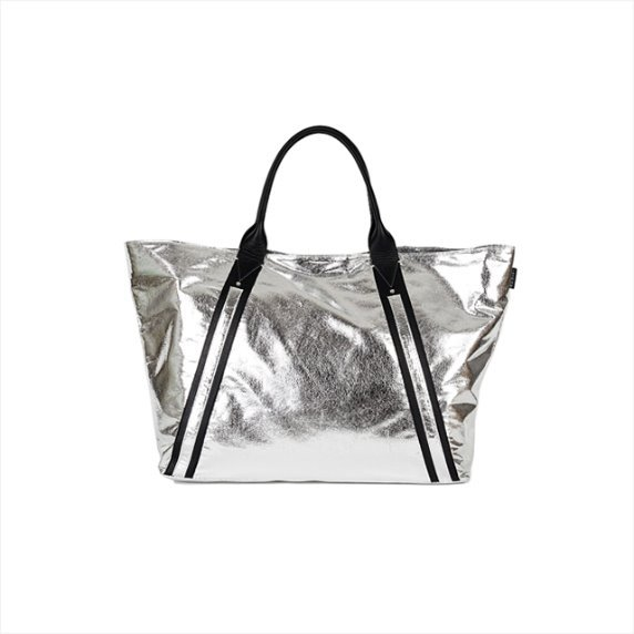 Tote bag zip L - silver sonic 40%SALE