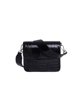 Cayman Shiny Strap Bag Black