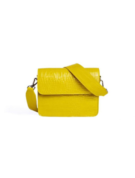 Cayman Shiny Strap Bag Yellow