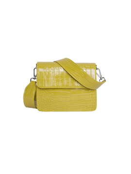 Hvisk Cayman Shiny Strap Bag chartreuse yellow