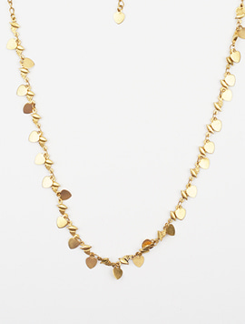 Gold multi heart necklace