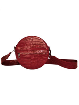 Hvisk Cayman Circle Bag Wine red 스트랩크로스백