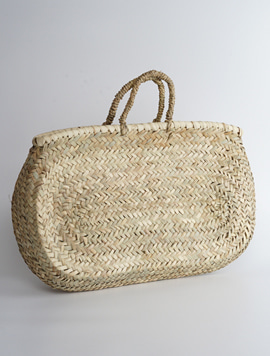 Portugal reed bag - 와이드 라탄백