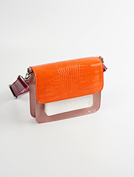 Hvisk Cayman Pocket Multi Orange 스트랩크로스백