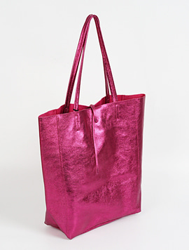 Dark Fuxia(NO.L023) shopper bag - Large