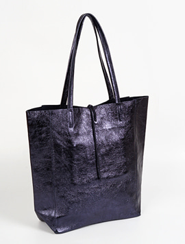 Navy shopper bag - Large