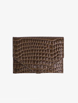 Hvisk Wallet croco Brown 카드지갑