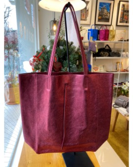 Burgundy shopper bag - Large