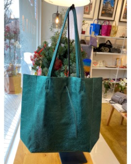 Dark green shopper bag - Large