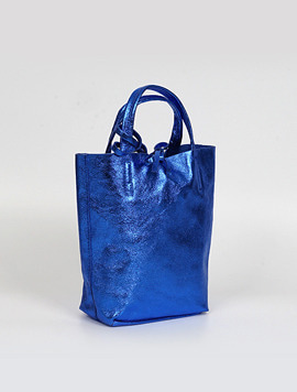 Electric blue shopper bag S