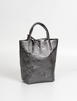 Dark grey shopper bag S