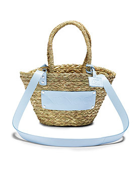 Núnoo ratan bag light blue