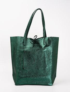 Dark green(NO.L016) shopper bag - Large