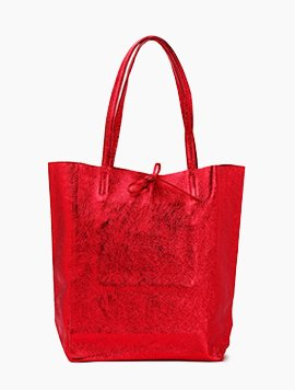 Red(NO.L032) shopper bag - Large