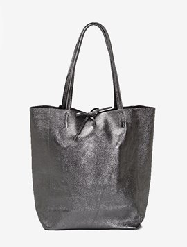 Dark grey(NO.L020) shopper bag - Large