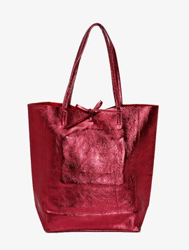 Burgundy(NO.L019) shopper bag - Large
