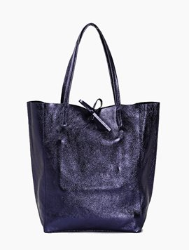 Navy(NO.L033) shopper bag - Large