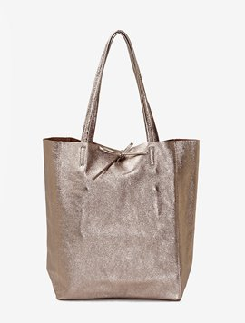 Beige grey(NO.L005) shopper bag - Large