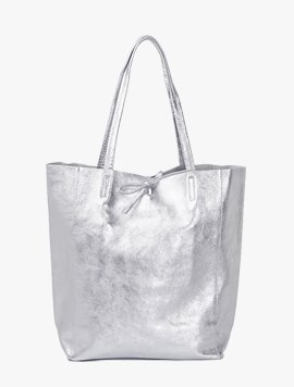 Light silver(NO.L001) shopper bag - Large