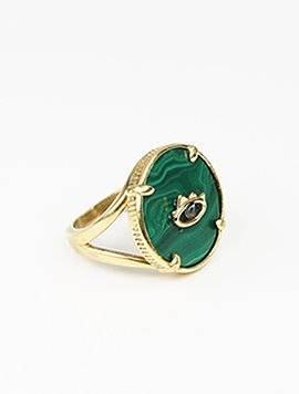 [테소로] Malachite Eye ring