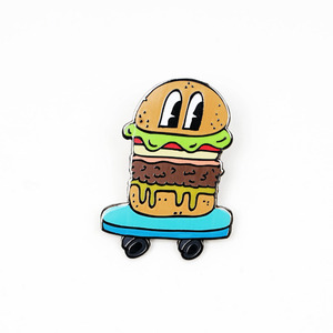BURGER SKATER PIN BY NICOLE DADDONA